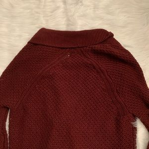 Lucky Brand Sweaters - Lucky brand maroon 3/4 sleeve knit cardigan